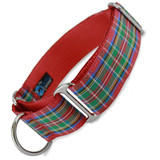 "1.5"" Wide Martingale Collar, Scottish Plaid Tartan"