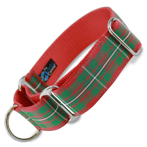"1.5"" Wide Holiday Plaid Martingale Collar"