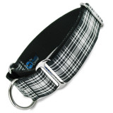 "wide martingale collar, 1.5"" wide, menzies plaid"