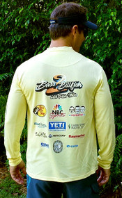 Fighting Lady Yellow Moisture Wick Sponsor Logo Jersey