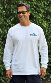 White Bass2Billfish Long Sleeve Cotton