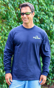 Navy Blue Bass2Billfish Long Sleeve Cotton