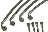 Braided Brake lines#4 90 deg 4 pack