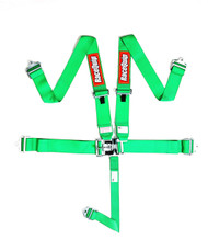 Racequip Racing Harness 5 pt. Green Belts