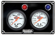 QuickCar Two Gauge Black Panel-61-6701