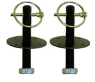 Hood Pins Pair-Black