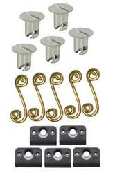 Quarter Turn Buttons Flush Head-5 Pack