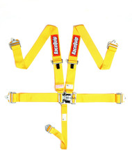 Racequip Racing Harness 5 Pt. Yellow Belts