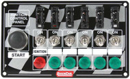 Ignition Panel Checker Flag Momentary Button 6 Switch Fused with Lights