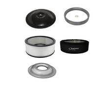 Ultra Flow Air Cleaner Kit Black Top Paper Filter With Outerwear
