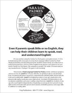 FFP Dual Language Audio CD Info Sheet