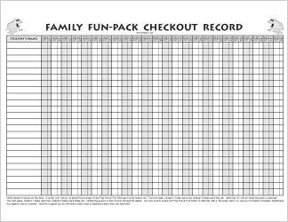FFP Checkout Record