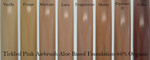 cosmetic airbrush makeup color swatch