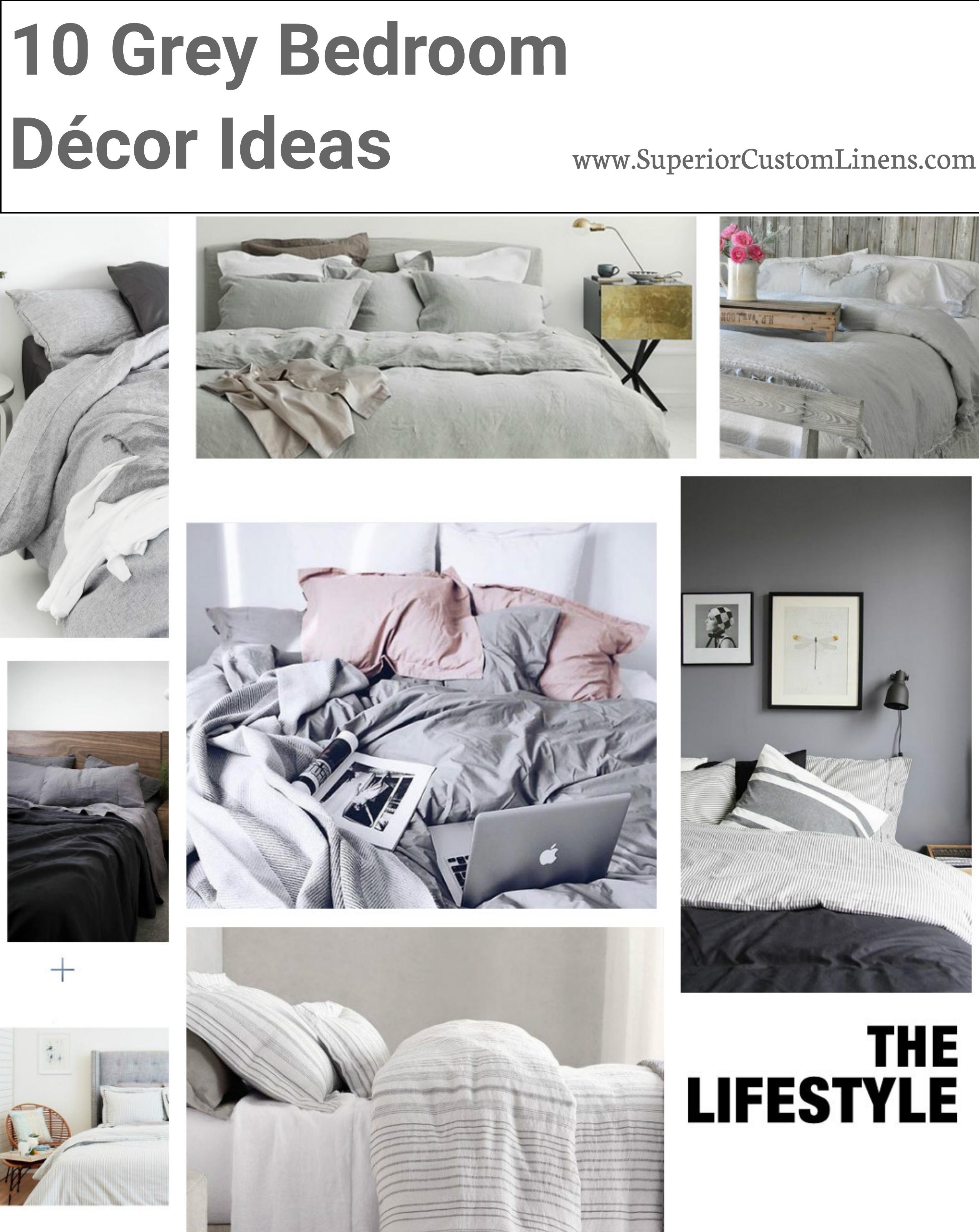 10 grey bedroom décor ideas - superior custom linens