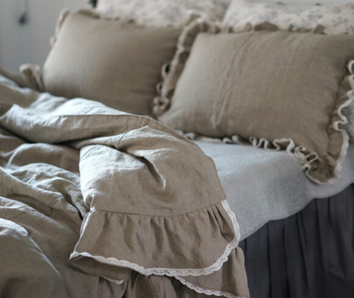 Ruffle Duvet Cover Inspired By French Country Style