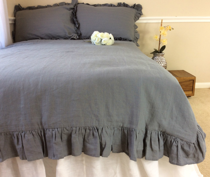 Industrial Rustic Shabby Chic Bedding Handcrafted By