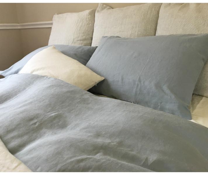Duck Egg Blue Linen Duvet Cover W Pillow Covers
