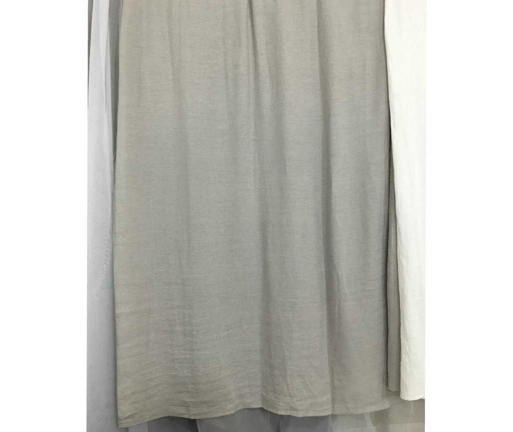 Stone Grey Linen Curtains Handcrafted By
