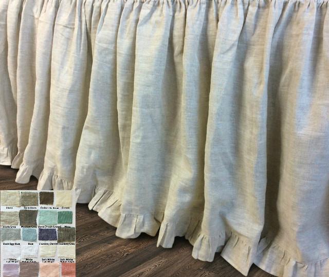 Bed Skirt With Ruffle Hem Dust Ruffle 15 24 Quot Drop