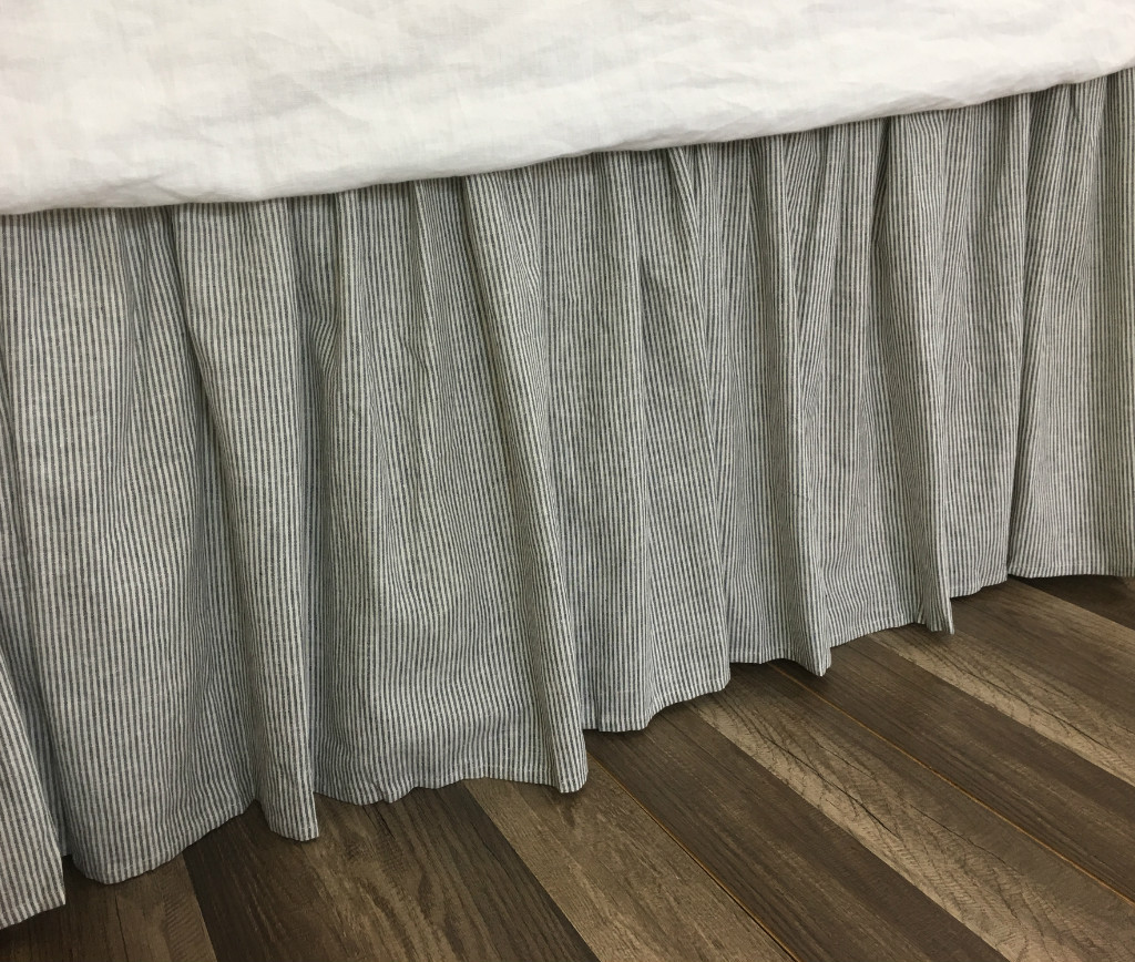 Black And White Striped Bed Skirt 5