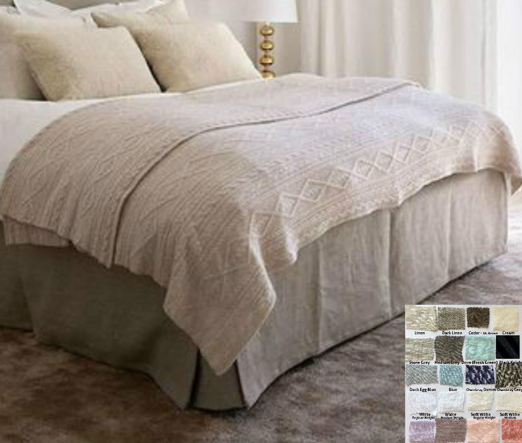 Boxed Linen Bed Skirt Minimalist Classy 15 24 Quot Drop