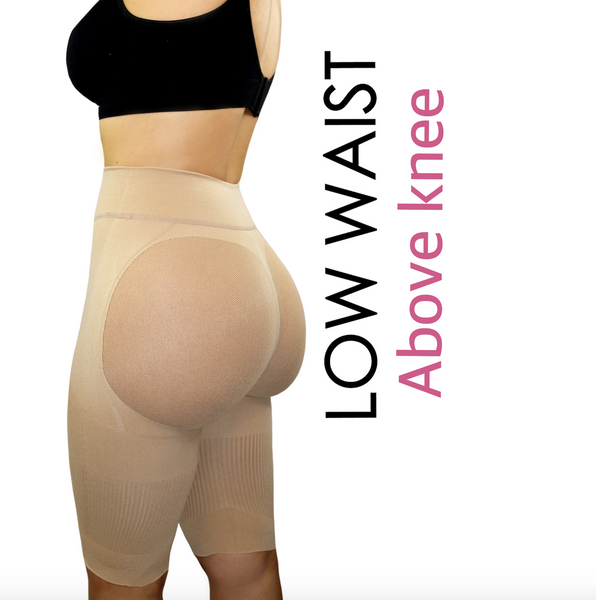 81fa0d790b33c Happy Butt No.7 Low Waist Above Knee Double Tummy Layer