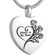 Always in my Heart Roses Memorial Pendant
