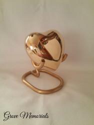 Brass Plain Heart Keepsake