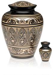 Grand Gold and Black Urn