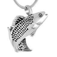 Trout Fishing Memorial Pendant