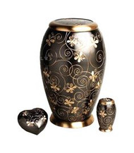 Swirling Butterflys Cremation Urn
