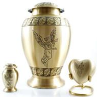 Angel Bronze Urn