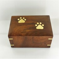 Solid Rosewood Wooden Pet Urn - up to 12 kgs