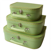 Mini Nesting Suitcases - Green [PRICED FROM $20] (OUT OF STOCK)