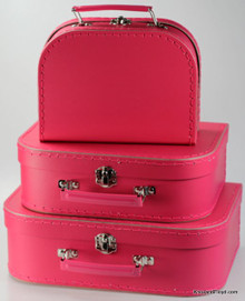 Mini Nesting Suitcases - Hot Pink [PRICED FROM $20] (OUT OF STOCK)
