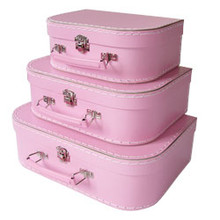 Mini Nesting Suitcases - Pink  [PRICED FROM $20]