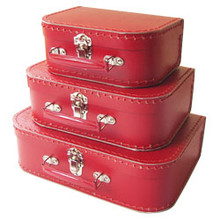 Mini Nesting Suitcases - Red [PRICED FROM $20] (OUT OF STOCK)