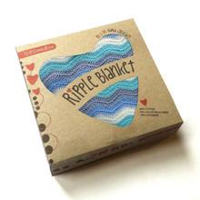 O.B. Designs Ripple Blanket - Blue Jay