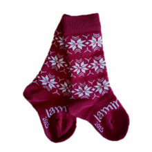Lamington Merino Socks - Christmas Snowflake [PRICED FROM $15.50] (ONLY SIZE NB-3MTHS LEFT)