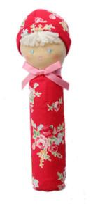 Alimrose Doll Handsqueaker - Red Floral