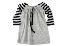 Little Flock of Horrors - Tussock Top - Silver Stripe (LAST ONE LEFT - SIZE 6-12 MONTHS)