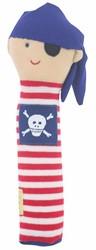 Alimrose Pirate Hand Squeaker - Red Stripe