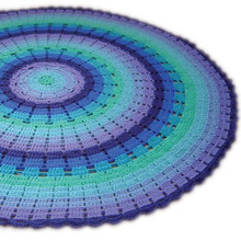 O.B. Designs Round Throw/Rug - Sky