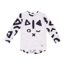 Milk & Masuki Long Sleeve Tee - Geo Cat (LAST ONE LEFT - SIZE 3 YEARS)