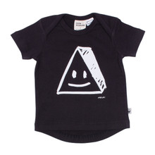 Milk & Masuki Short Sleeve Baby Tee - Triangle Face