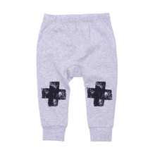 Milk & Masuki Baby Leggings - Black Knee Cross