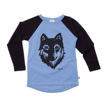 Milk & Masuki Long Sleeve Raglan - Wolf Placement