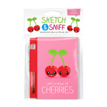 Scentco Sketch & Sniff Note Book and Gel Pen - Cherry
