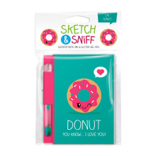 Scentco Sketch & Sniff Note Book and Gel Pen - Donut