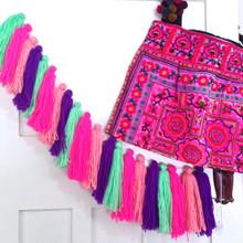 O.B. Designs Woolen Tassel Bunting - Candy